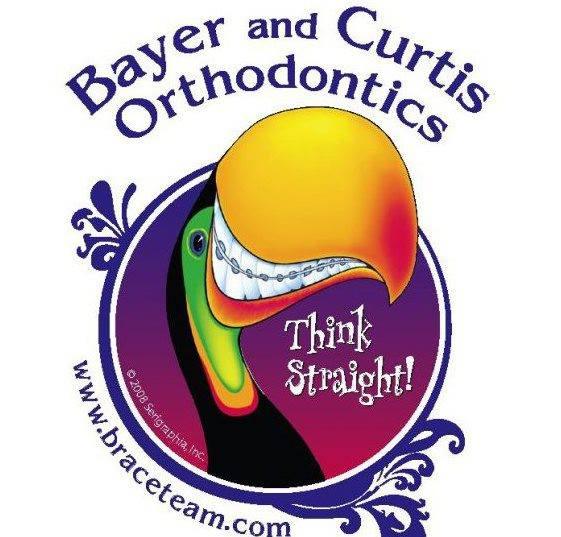Picture of Bayer and Curtis Orthodontics logo with a smiling toucan bird