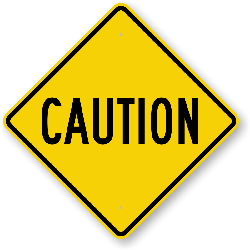 picture of a caution sign
