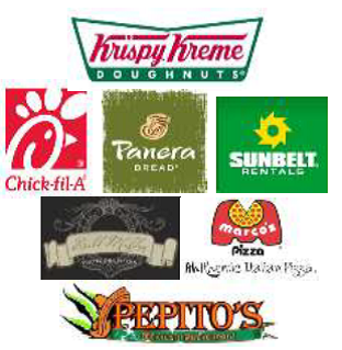 Picture of a group of restaurant logos