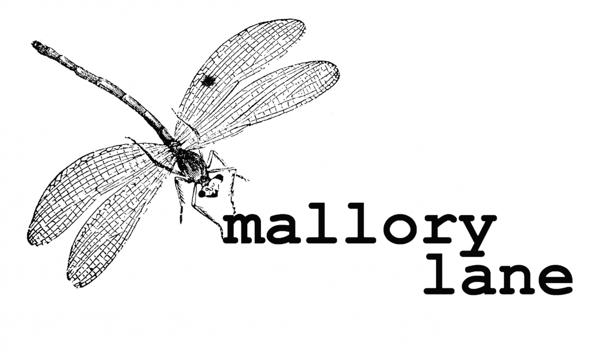 Picture of Mallory Lane logo with a dragonfly