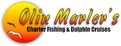 Picture of the Olin Marler's fishing and dolphin cruises with a big sun