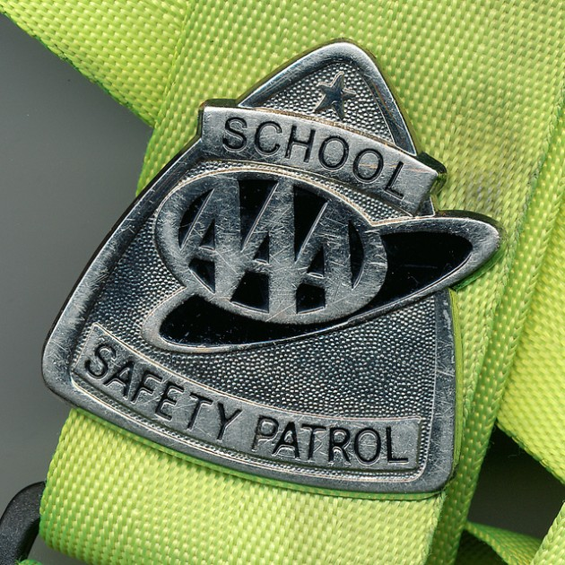 Picture of the School Safety Patrol badge belt