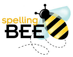 picture of a bee with wording Spelling Bee next to it