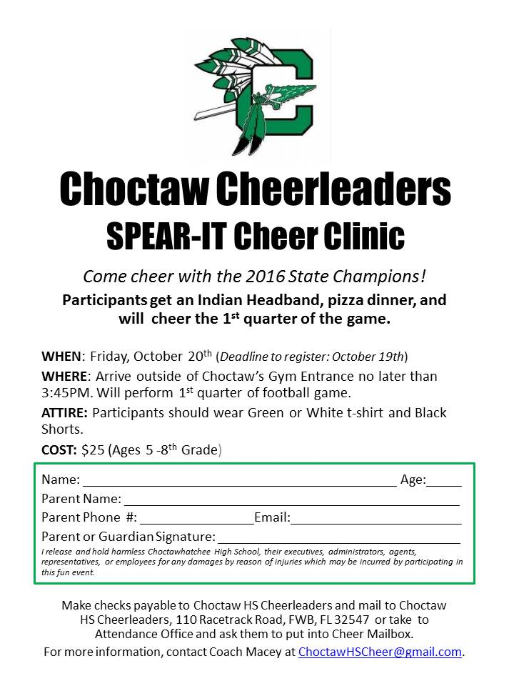 Picture of the SPear-it clinic flyer