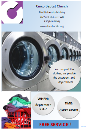 Laundry Service at Cinco Baptist