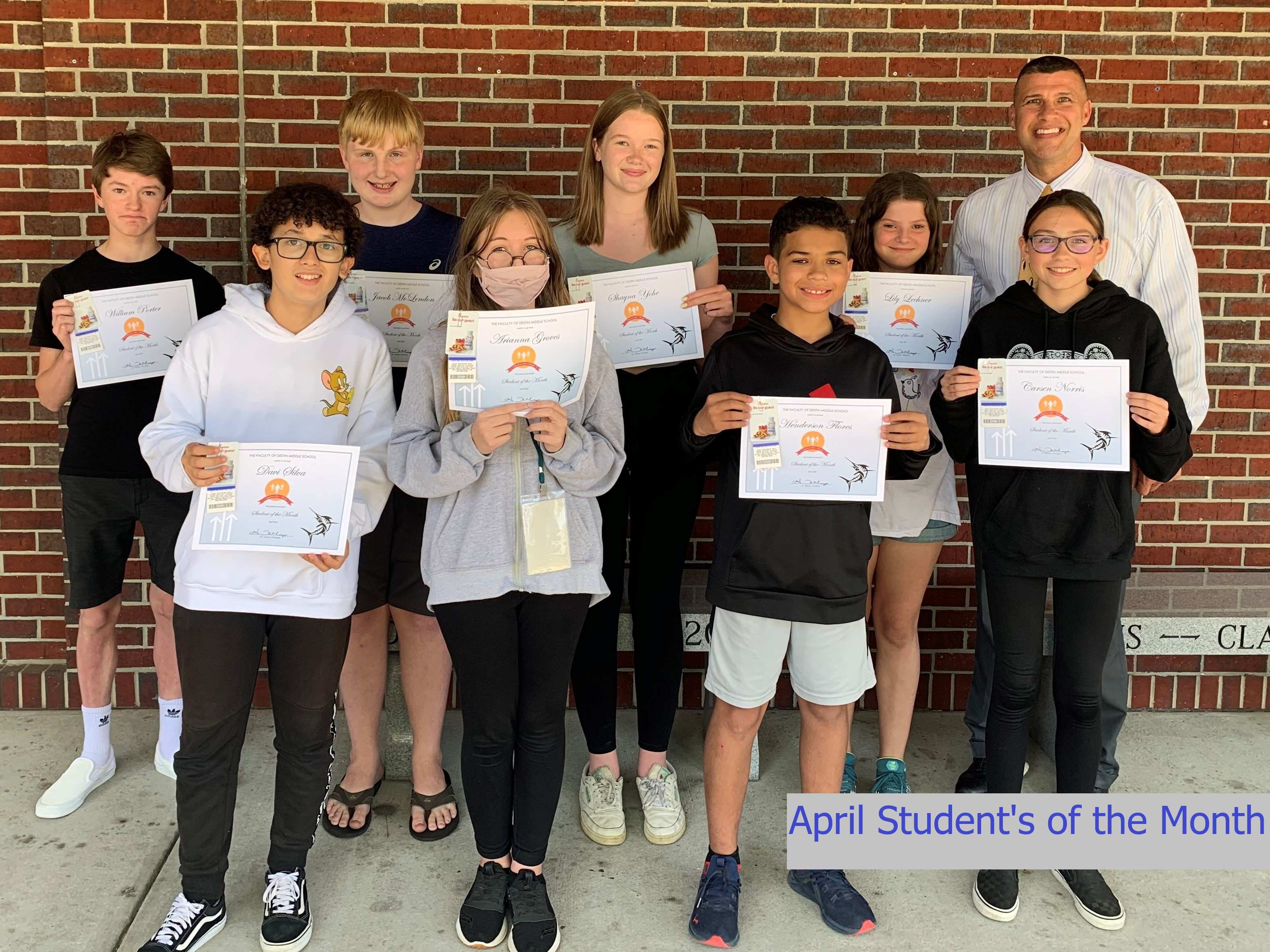April Student's of the Month
