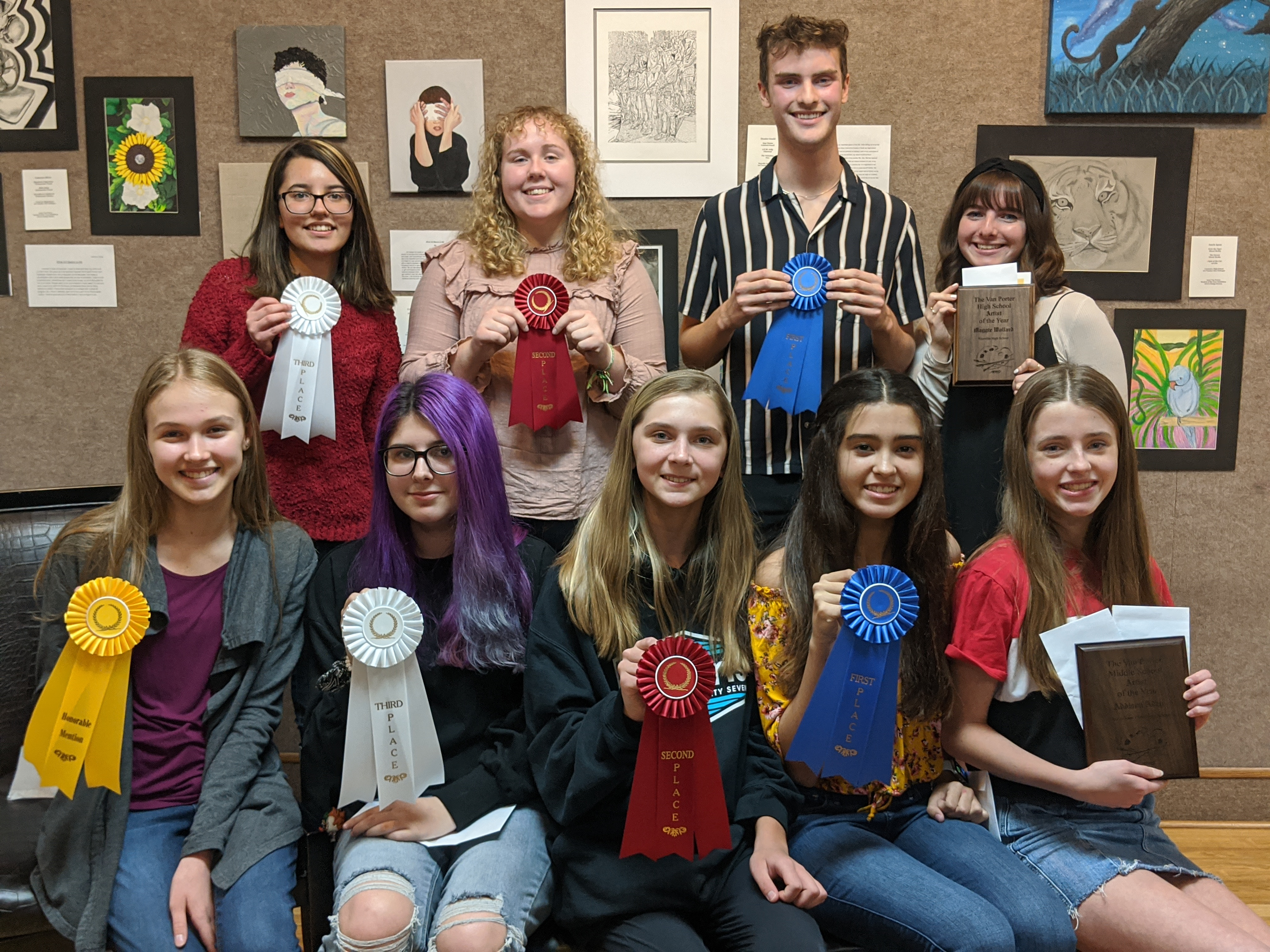 Okaloosa County Art Students Recognized at the Van Porter Art Show