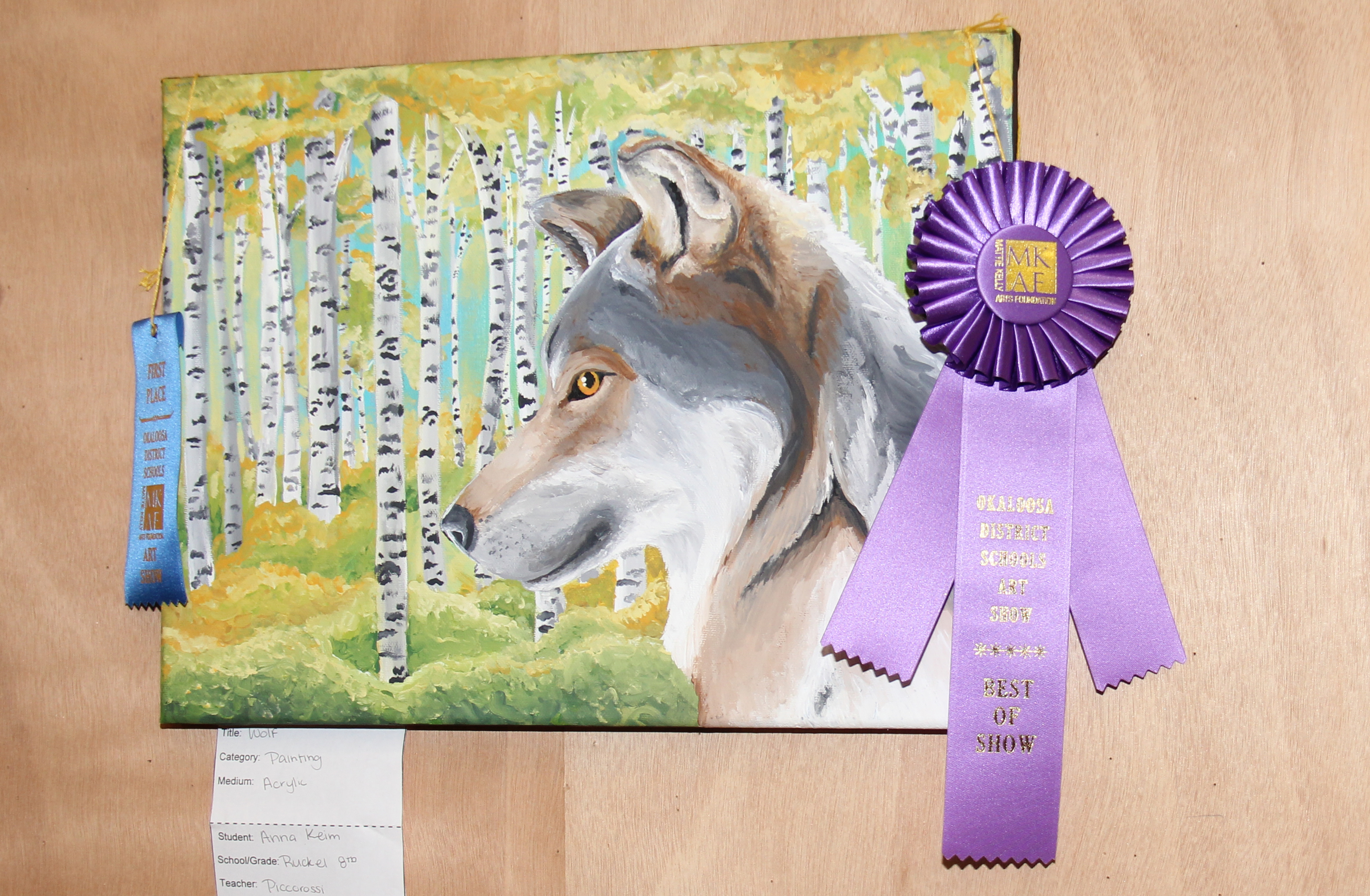 Anna Keim – 2D Best of Show – Middle School - Wolf