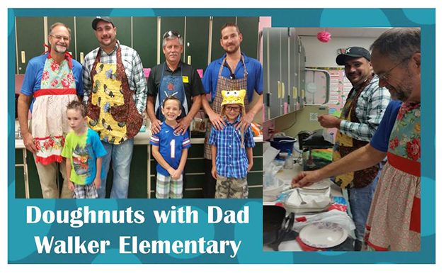 Walker Elementary School - Doughnuts with Dad