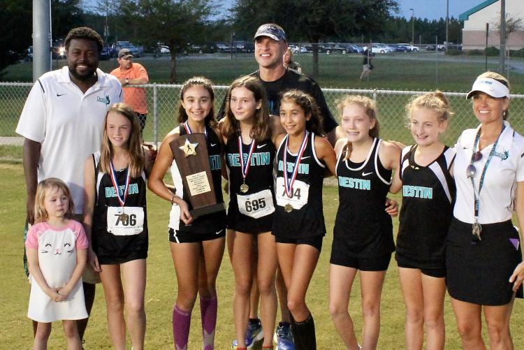 Destin MS Girls Cross Country Team