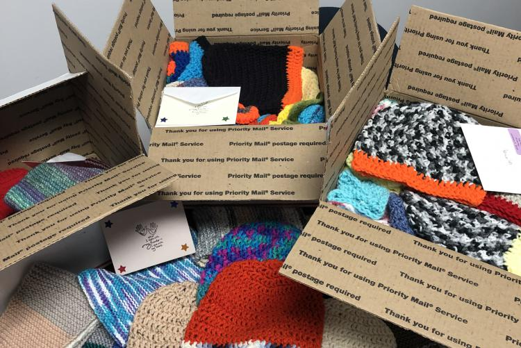Hats and Scarves Donation