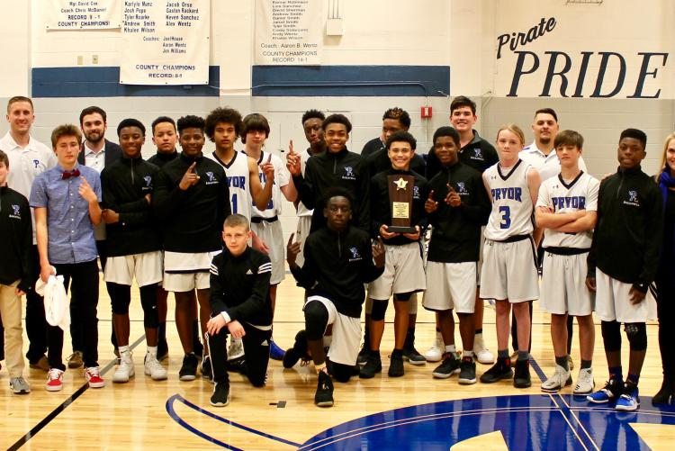Pryor MS Boys Basketball Team Wins Class 1A Middle School Athletic Conference Championship