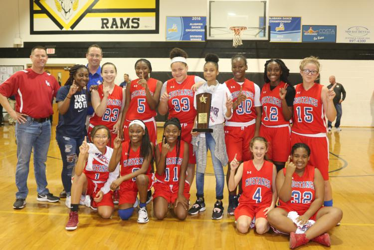 Shoal River MS Girls Basketball Team Wins Class 2 Middle School Athletic Conference Championship