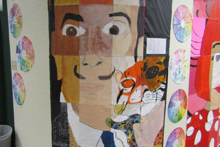Lewis Middle School Art Students Learn Grid Drawing