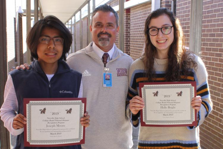 Two NHS Students Recognized by College Board
