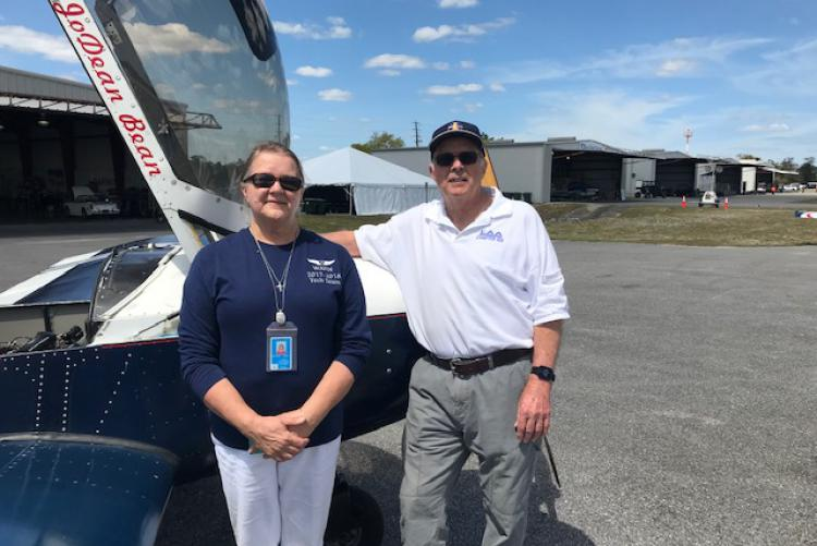 Marge Langley, Antioch ES, Takes First CAP Flight in Small Aircraft