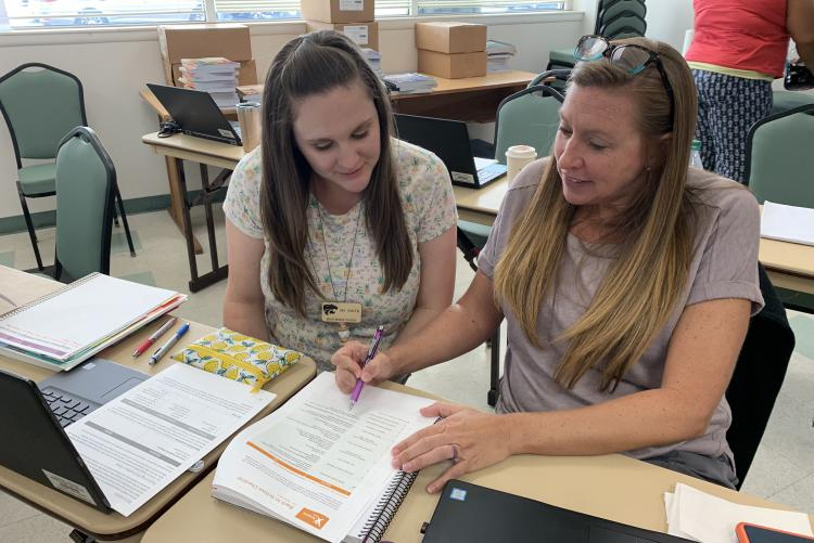 Intensive Middle School Math Teachers Explore the Imagine Math Program