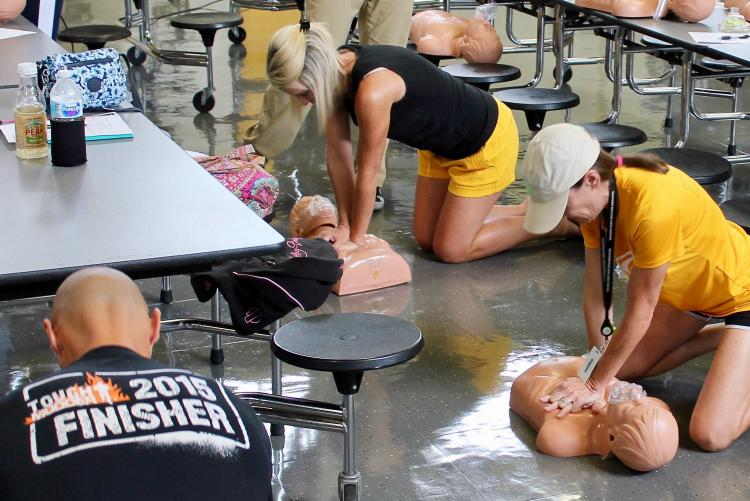 Area Coaches Attend CPR/AED Training