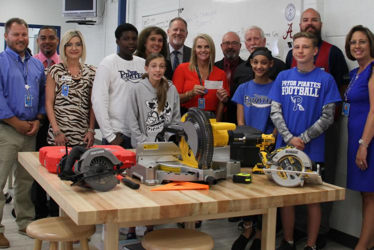 Generous Donations Make New Construction Program at Pryor Middle School Possible