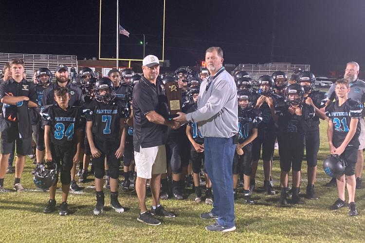 Shoal River Runner Up Middle School Athletic Conference Class 2A Football Championship