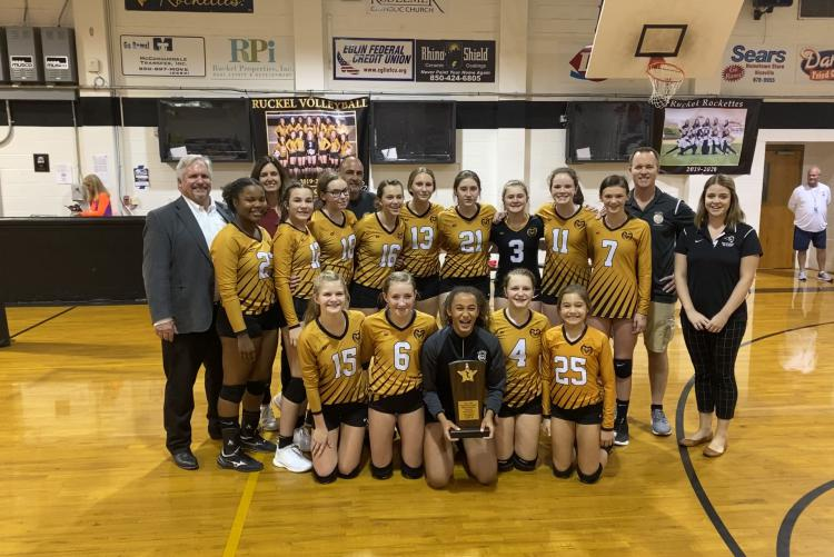 Ruckel Middle School Wins Middle School Athletic Conference 2A Volleyball Championship