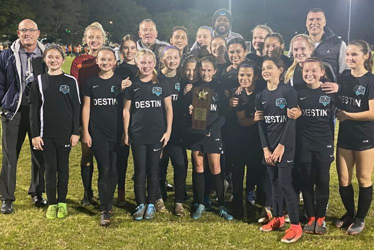Destin Middle School Marlins Girls Soccer Team Wins Middle School Athletic Conference Soccer Championship