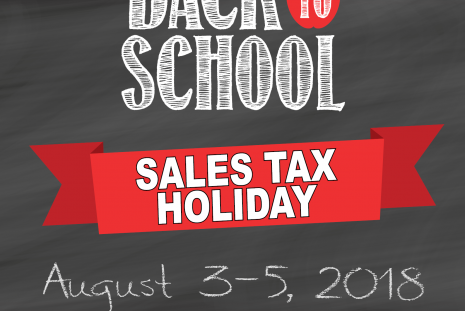 Picture of Back to School Sales Tax Holiday graphic