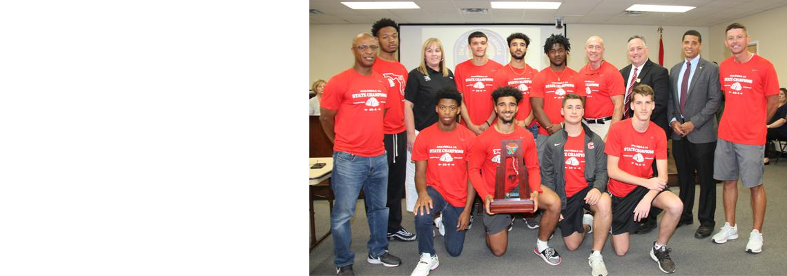 Crestview HS Boys Basketball Team recognized as FHSAA Class 7A State Champions