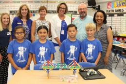 Plew Second Graders Celebrate Engineering STEM Project Completion