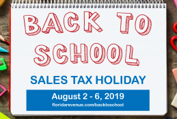 Back to School Sales Tax Holiday graphic