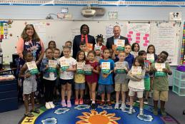 FDOE Commissioner Richard Corcoran and Florida's Teacher of the Year Visit Riverside ES