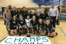Destin Middle School Wins Middle School Athletic Conference 1A Volleyball Championship