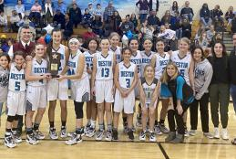 Destin Middle School Marlins Girls Basketball Wins Middle School Athletic Conference Championship