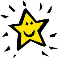 Picture of a yellow star with smiley face.