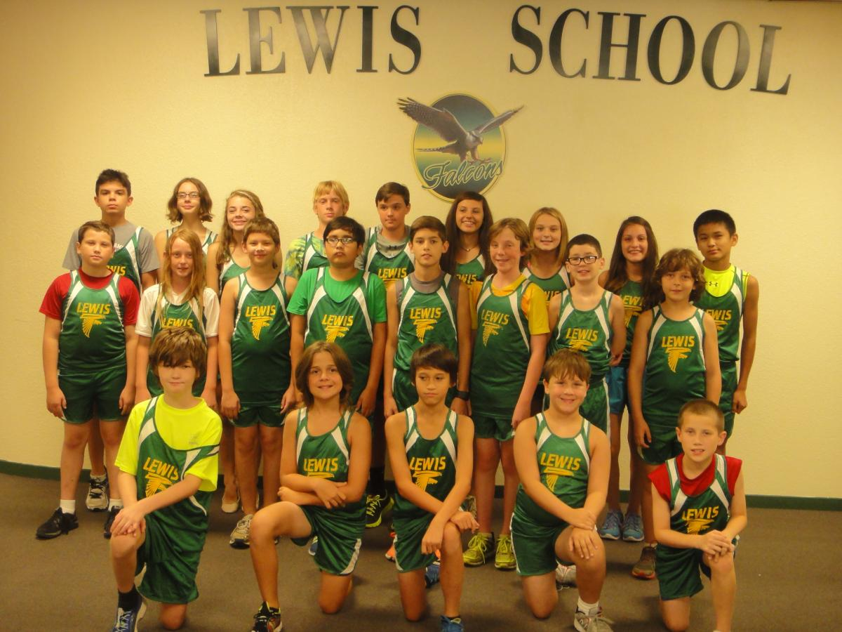 picture of the Lewis Cross Country Team