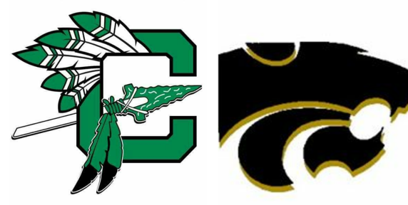 Picture of Choctaw High School's logo and Meigs Middle School's logo