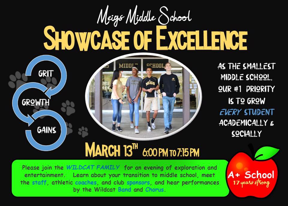 Picture of Meigs Middle School Students  Meigs Showcase March 13th PM to 7:15 PM