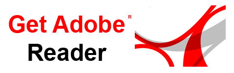 Picture of Adobe Acrobat Reader symbol with text Get Adobe Reader