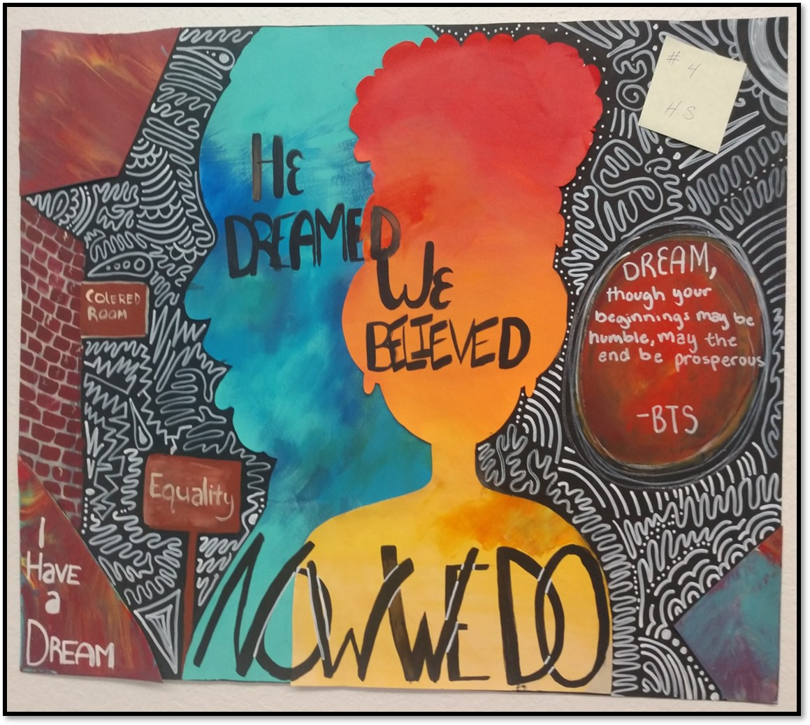 Kayli Peazant's winning poster from the MLK, Jr. Poster Contest