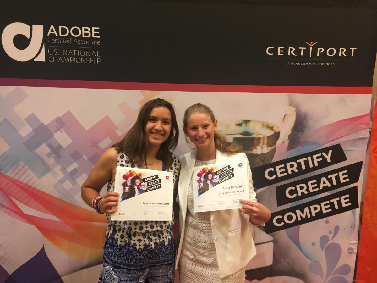NHS students attend the Adobe Certified Associate World Championship