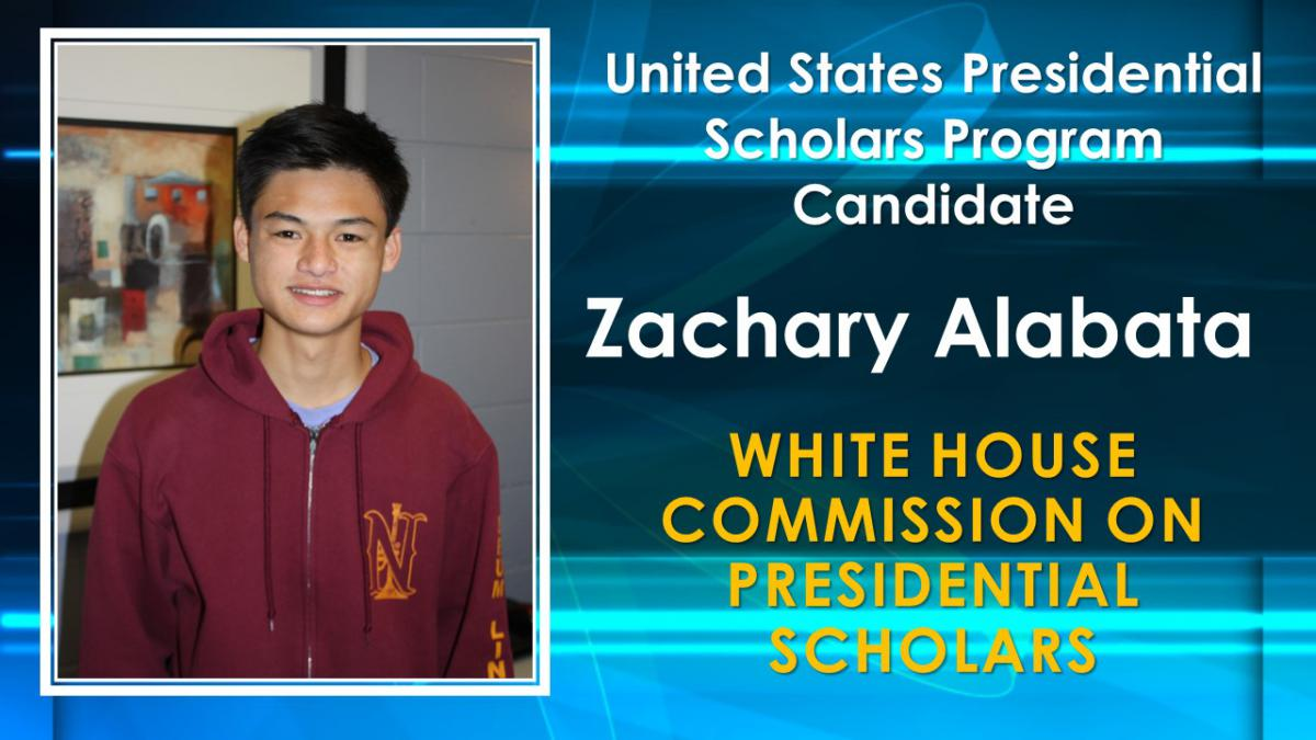 Zachary Alabata Named White House Commision of Presidential Scholar