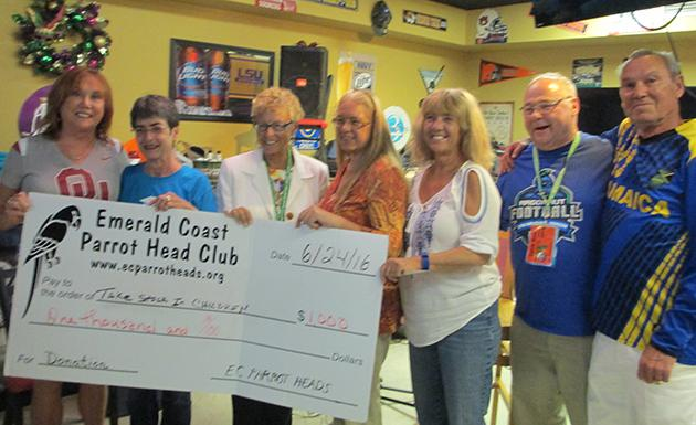 Picture of Parrot Head Club donation to TSIC