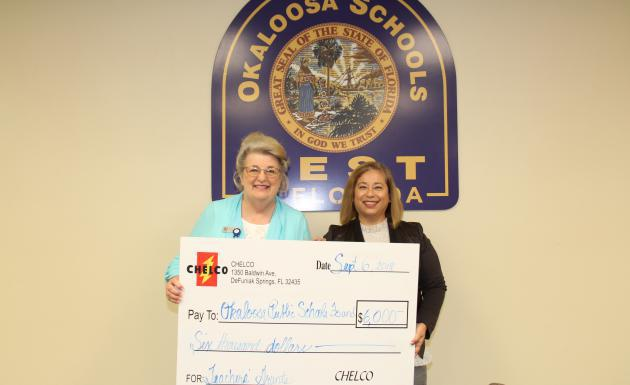 Picture of CHELCO Donates $6,000 to OPSF for Teacher Grants