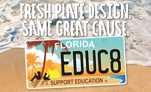 New Florida Educational License Plate
