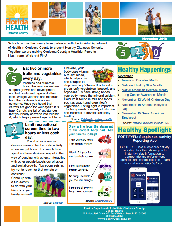 Healthy Schools Newsletter Image