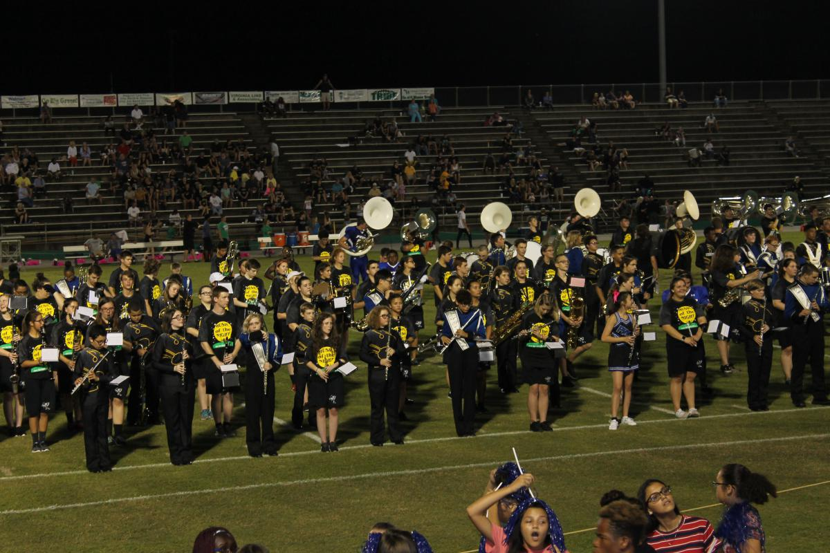 Choctaw Meigs Pryor Bands Together at last home game of season 2018