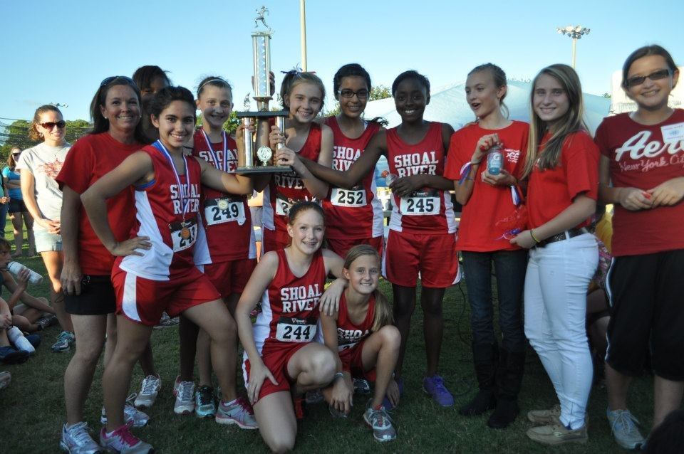 cross country champs with trophy