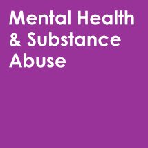 Purple Mental Health & Substance Abuse Button