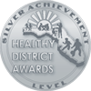 Silver Healthy District Award graphic